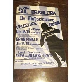 Motocross Moto Cartaz Antigo Clube Brusque Sc Cross