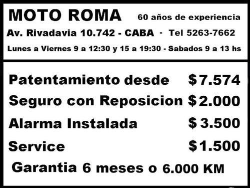 motomel cg s2 150 rayos/disco 18ctas$3.925 motoroma