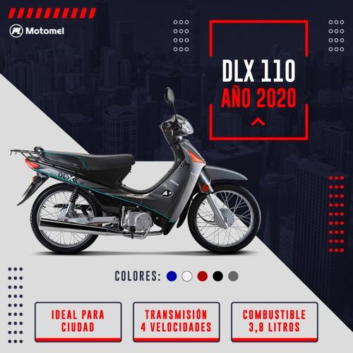 motomel dlx 110 en promo rayos - tambor + parrilla