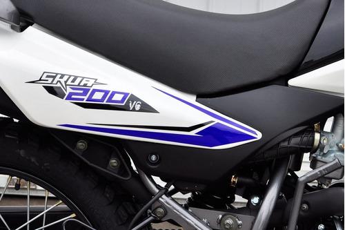 motomel skua 200 v6 nuevo enduro cross 0km urquiza motos