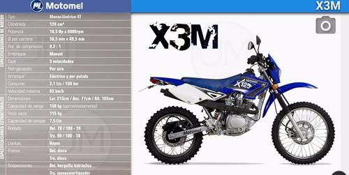 motomel x3m 125 0km financiado minimo anticipo