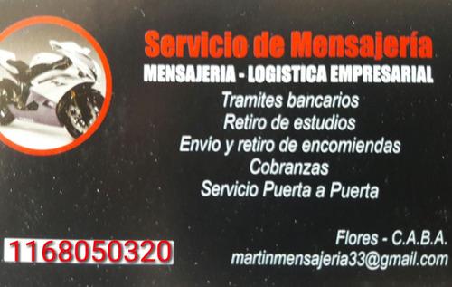 motomensajeria mensajeria en moto logistica martin