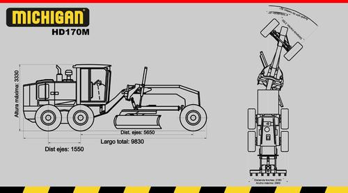 motoniveladora michigan 165 hp