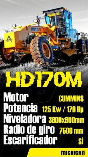 motoniveladora michigan hd170m