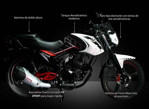 motor 1 fx150 150cc año 2018 negro-rojo nueva versión