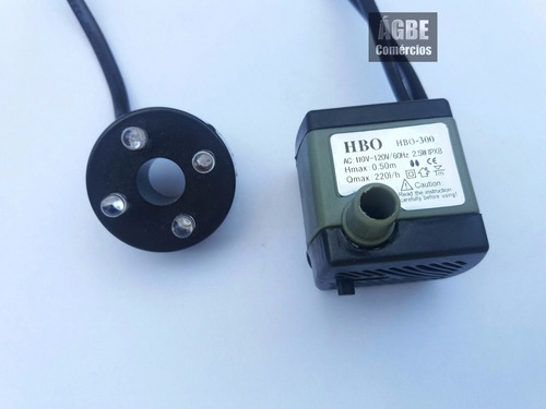 motor 110v bomba para fonte de água / aquário c/ luz cascata