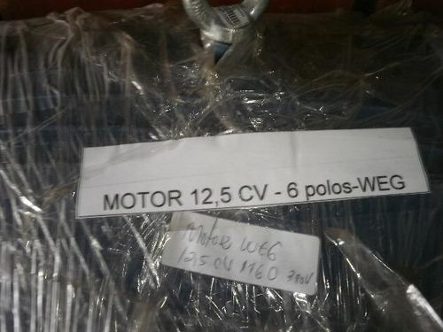 motor 12,5 cv 1160 rpm  weg revisado industria.