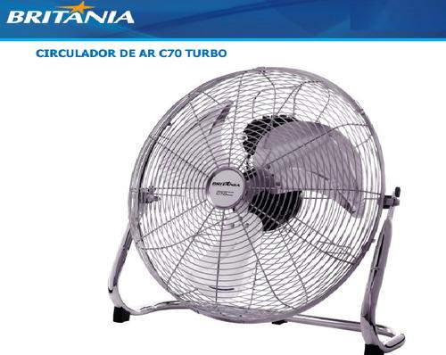 motor 127v p/  circulador de ar c70 turbo britânia original