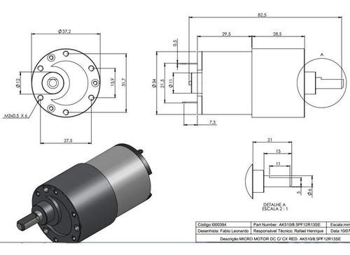 motor 12v dc 13 rpm girocam pan tilt slider motorizado