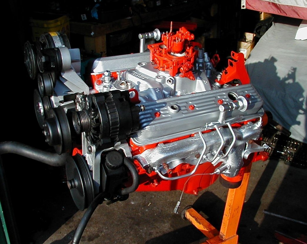 Motor 350 Y Caja Chevrolet Tapa Rayada 350 Impecable Bs