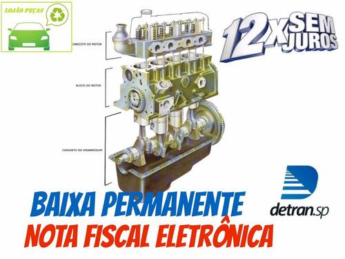 motor bloco c/cabeçote ford pampa 95 1.8 8v álcool v590