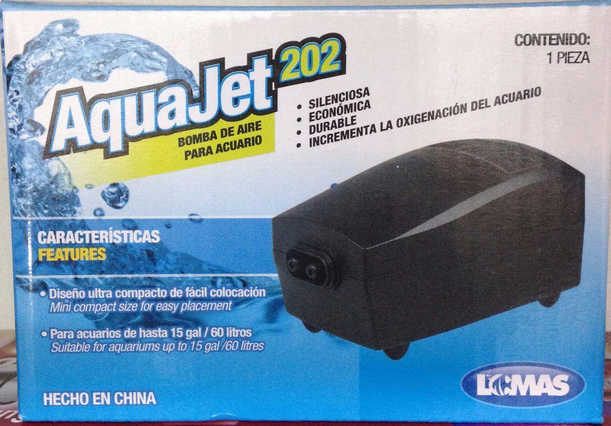 Motor bomba oxigeno aquajet 202 2 salidas acuarios o for Oxigeno de peceras