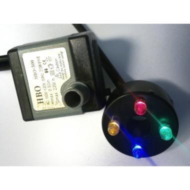 motor bombas bombinha fonte de água aquário c/ luz led cores