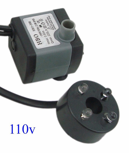 motor bombas para fonte de água ou aquário c/ luz 110v