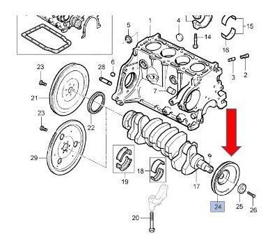 motor c/ar virabrequim
