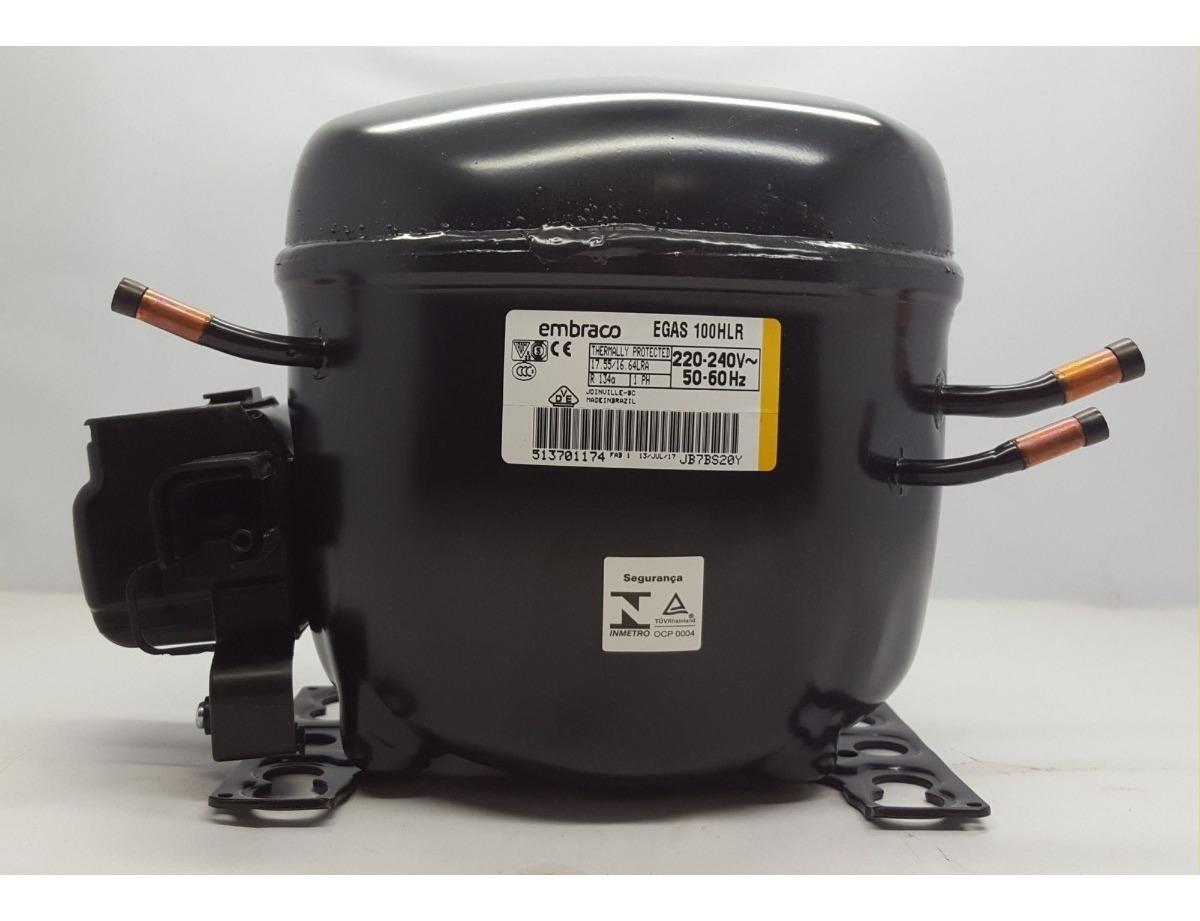Motor Compressor Embraco 1/3 Hp - Egas 100hlr - R134a - 220v