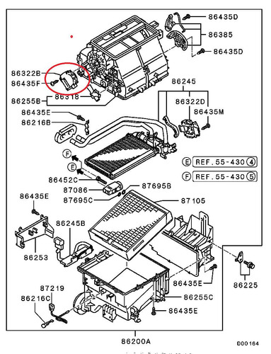 motor control del a/a mitsubishi grandis 2.4 na4w original