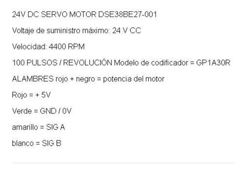 motor dc con encoder