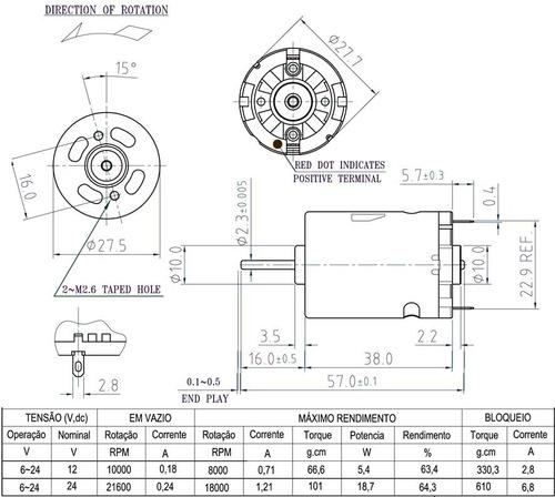 af26a74061b Motor Dc - Ima Permanente Pm101rhsa-nx - R  29