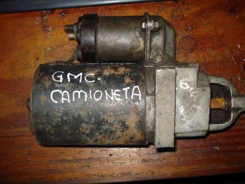 motor de arranque de gmc camioneta
