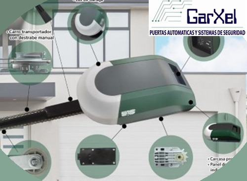 Motor de cadena para porton electrico automatizacion riel for Motor porton electrico