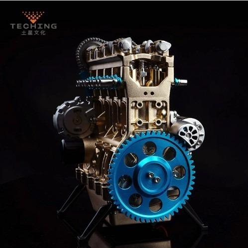 motor de gasolina en línea 4 cilindros de metal (a pedido)