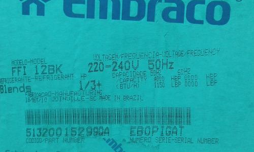motor de nevera 1/3+ 220v embraco mabe in brasileño 100%