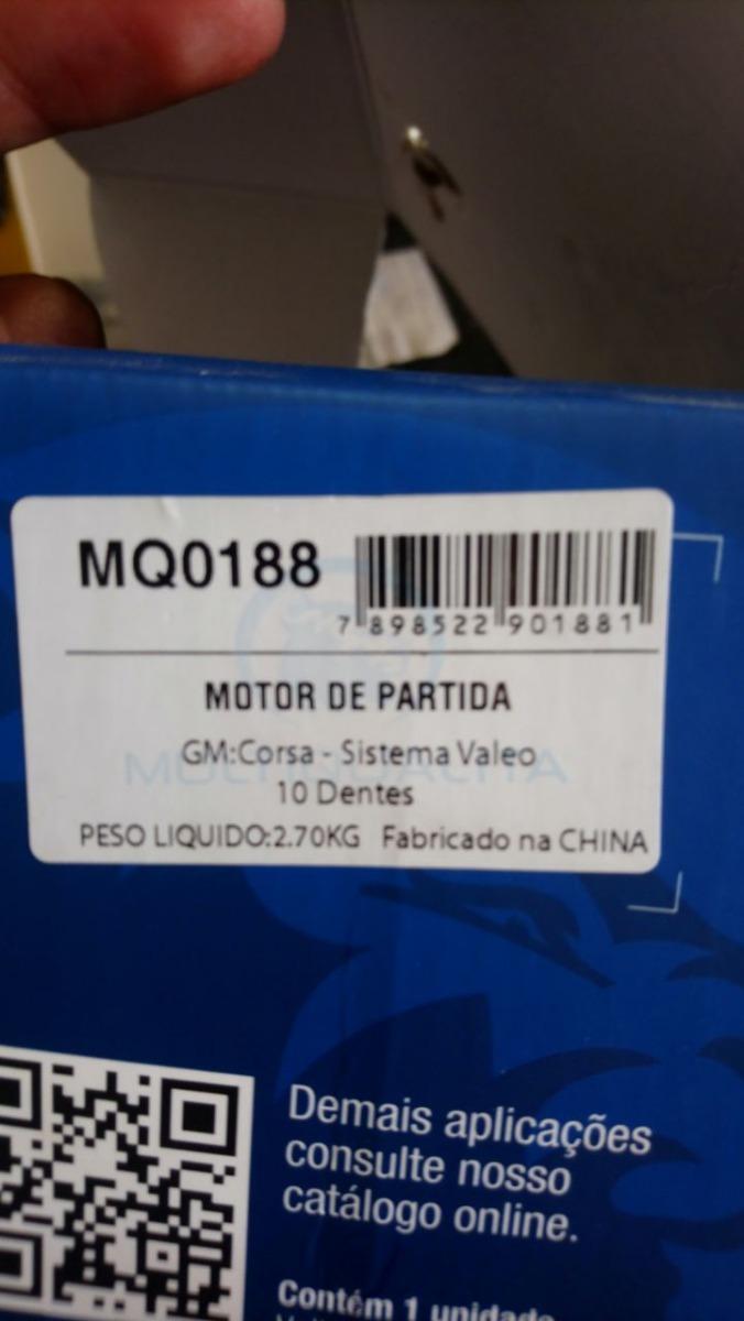 Motor De Partida Corsa 10 Dentes Sistema Valeo - R$ 310,00 em ...