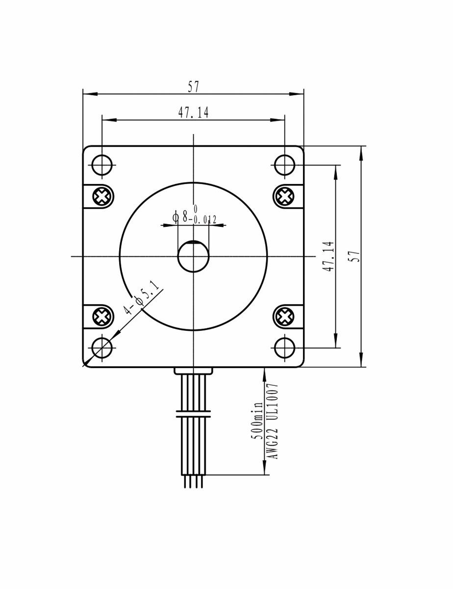 9edb1cc4a4a Motor De Passo Nema 23 - 15kgf.cm   3a - Wotiom - R  149