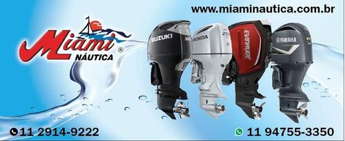 motor de popa 0km evinrude e-tec 115 hp miami nautica - sp