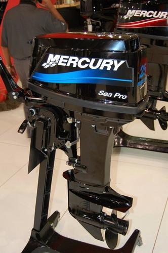 motor de popa mercury 25 hp sea pro 2t - novo-  0km