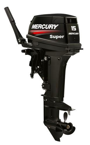 motor de popa mercury - 2t - 15 m super 18 hp - frete gratis