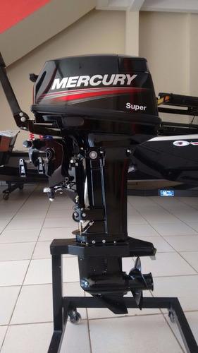 motor de popa mercury -  2t - 15 m super 18 hp, p/ cnpj.