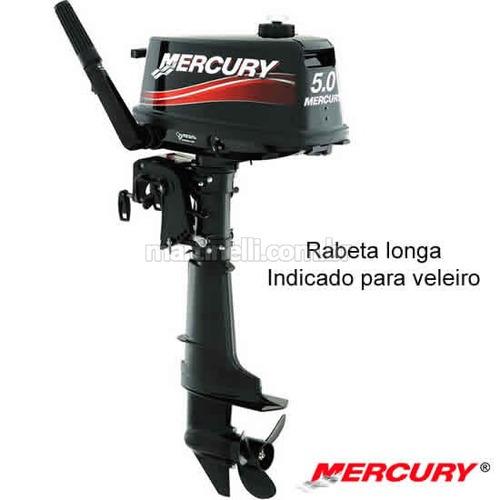 motor de popa mercury   5 hp 2t rabeta longa - 0km