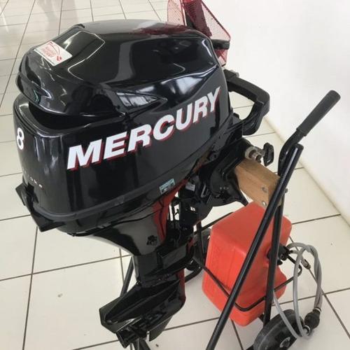 motor de popa mercury 8 hp 2 tempos ml  novo poddium náutica