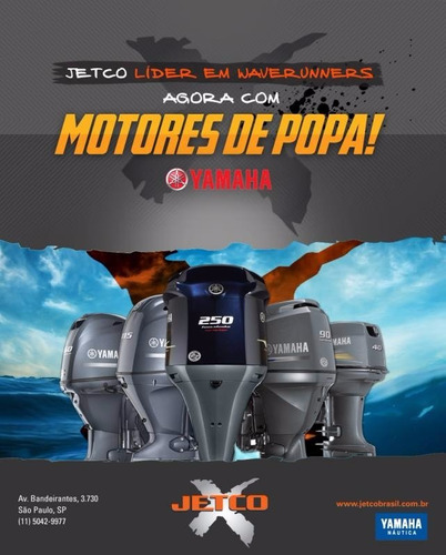 motor de popa yamaha 40hp - modelo novo 40amhs - 2016