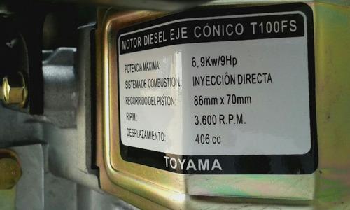 motor disel de 9ha cuña de 36000
