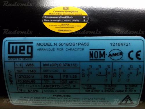motor eléctrico 1/2 cf weg monofásico uso múltiple