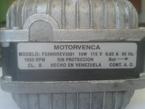 motor electrico motorvenca 1550rpm 10w 115v 0.62a 60 hz