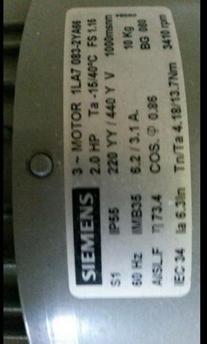 motor eléctrico nuevo trifasico siemens 2hp