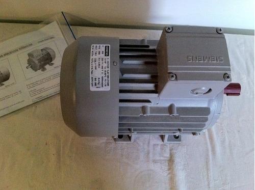 motor eléctrico trifásico siemens 1.5 hp 1la7 3.370 rpm