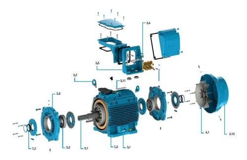 motor electrico trifásico weg 3hp 1500 rpm w22 b3