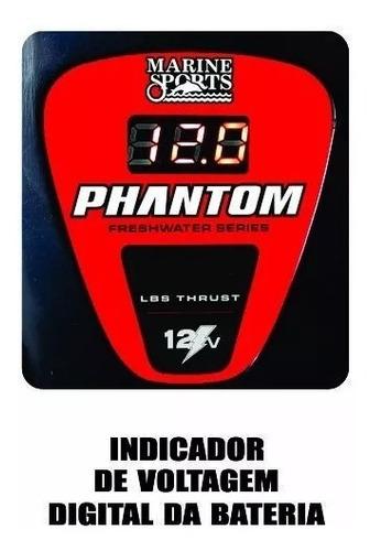 motor eletrico phantom 44lbs digital  agua doce p/ barco