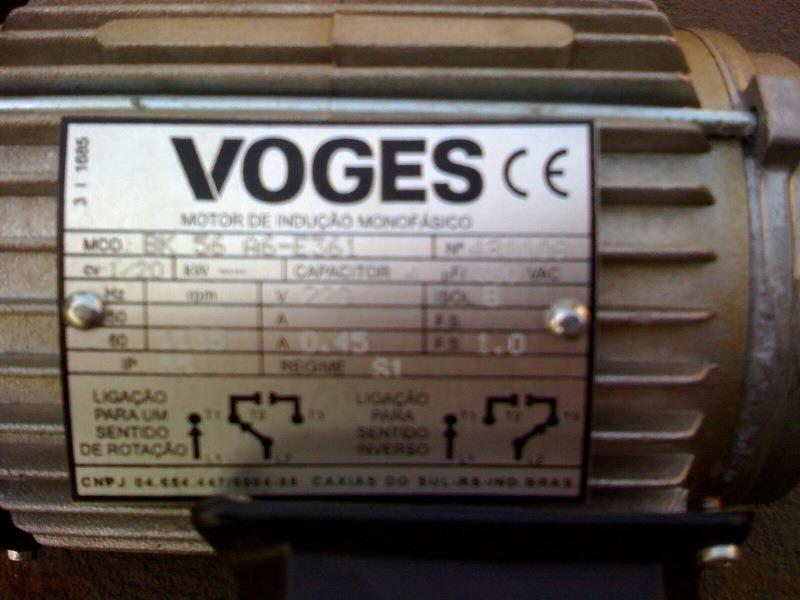motor el u00e9trico voges novo - 1  20cv mono 220v