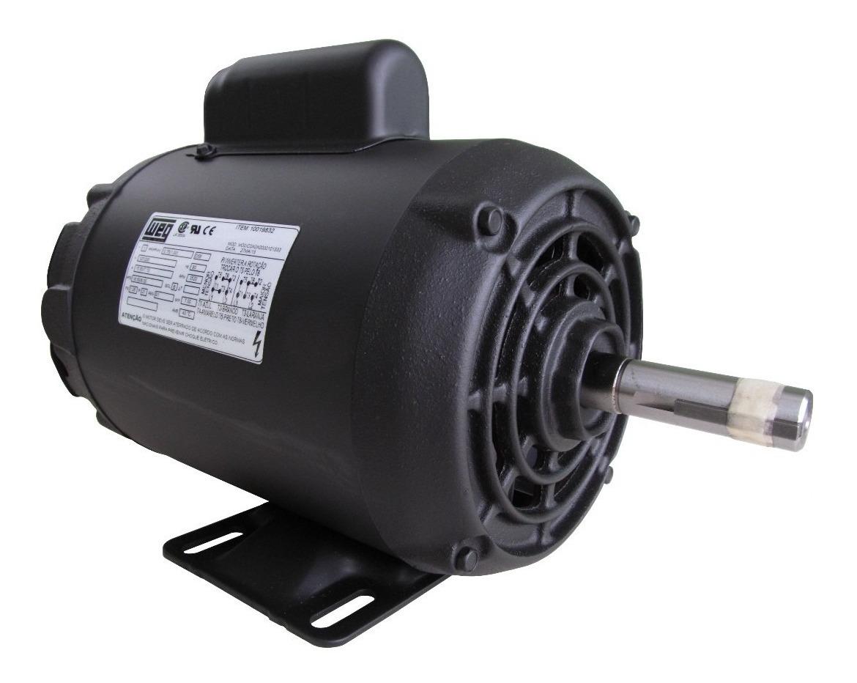 Motor Elétrico Weg Monofásico 1/2 Cv 4 Pólos Baixa Rotação ...