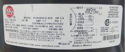 motor emerson 1/4hp 1eje 220v 1075rpm cnr-3901