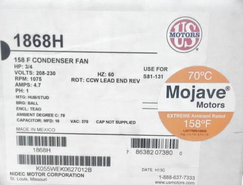 motor emerson 3/4hp 1eje 220v 1075rpm cnr-3906