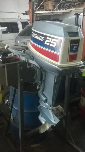 motor evinrude 25 hp pocas horas de uso