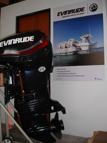 motor evinrude e-tec 90 hp ecol 5 años de garantia oficial!