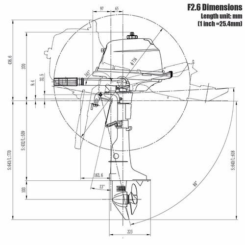 motor fuera de borda 2.6hp 4t parsun usado c/garantia 1 año